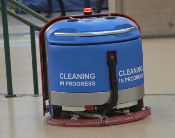 Robotic scrubber drier