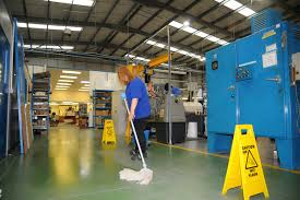 factory cleaning lady